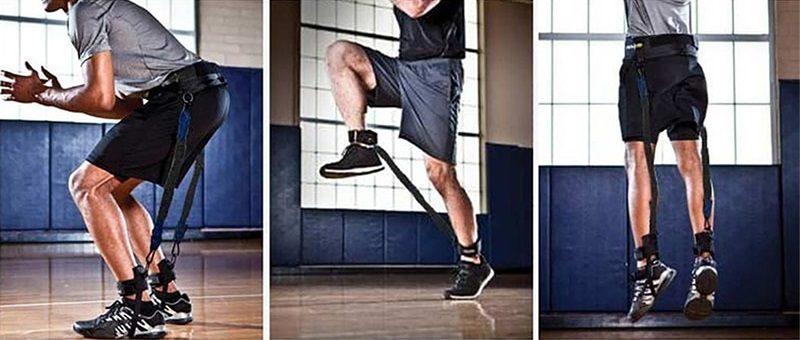 Exercices du bas du corps avec des élastiques de résistance