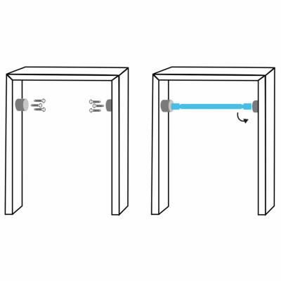 bar de traction à fixer sur un cadre de porte installation plan