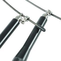 corde a sauter poignees en alluminium tetes tournantes