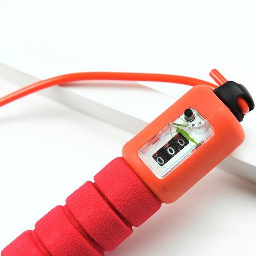 corde a sauter avec compteur mecanique fil reglable rouge