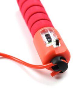 corde a sauter avec compteur de saut mecanique fitness rouge
