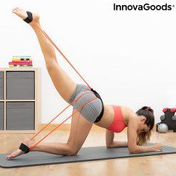 accessoire fitness elastiques resistance position donkey kicks