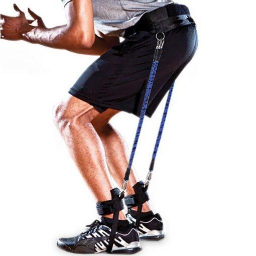 élastiques avec système de fixation pour faire des squats