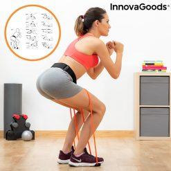 accessoire fitness bandes elastiques resistance position squat