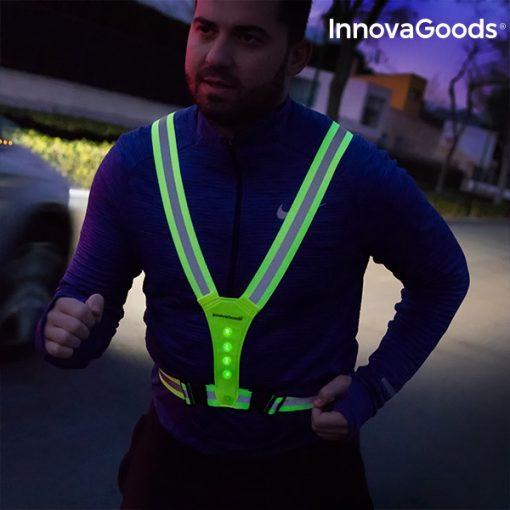 Gilet de sécurité réfléchissant à led course à pied