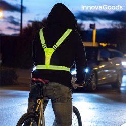 Gilet de sécurité réfléchissant à led cyclisme
