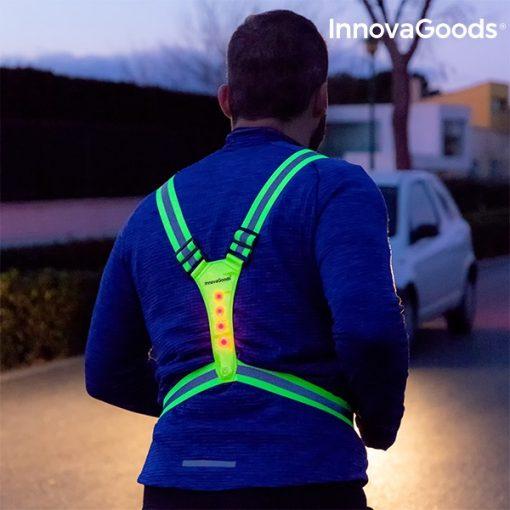 Gilet de sécurité réfléchissant à led jogging