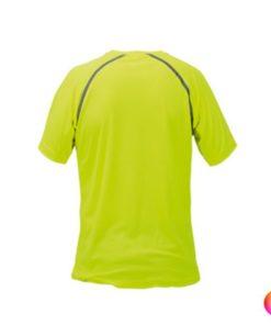 Tee shirt de sport pour homme anti transpirant jaune