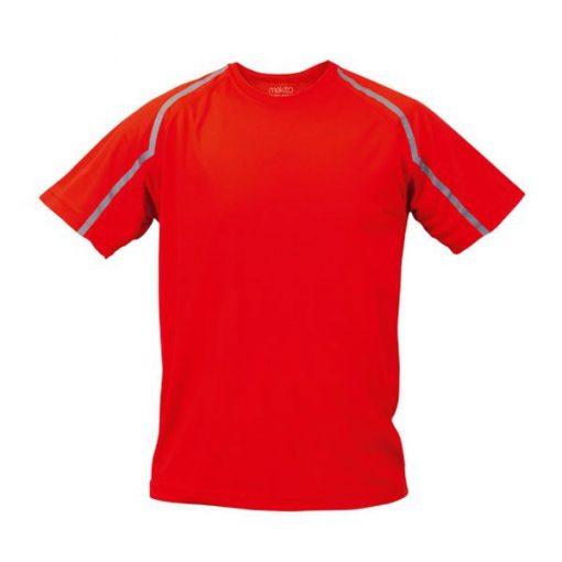 Tee shirt de sport pour homme anti transpirant rouge