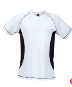 Tee shirt de sport pour homme anti transpirant blanc et noir