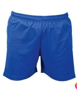 Short de sport pour homme et enfant de couleur bleue pas cher