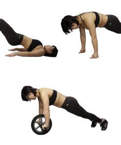 Exercices possible avec la double roue abdominale pieds mains