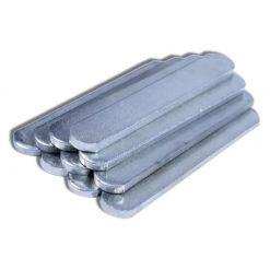 Plaques en acier pour insertion dans bandes lestées pour bras et jambes