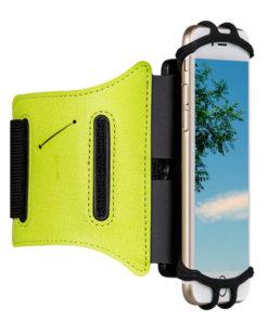 brassard smartphone vert course à pied
