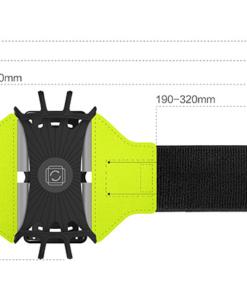 dimensions du brassard pour smartphone