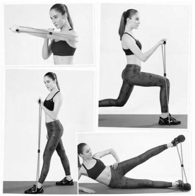 Exemple d'utilisation d'un elastique de fitness musculation