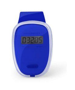 Podomètre clip ceinture compteur de pas bleu