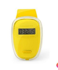 Podomètre clip ceinture compteur de pas jaune