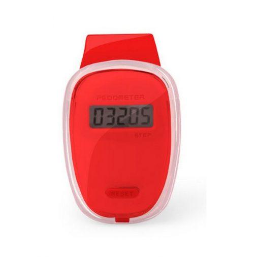 Podomètre clip ceinture compteur de pas rouge