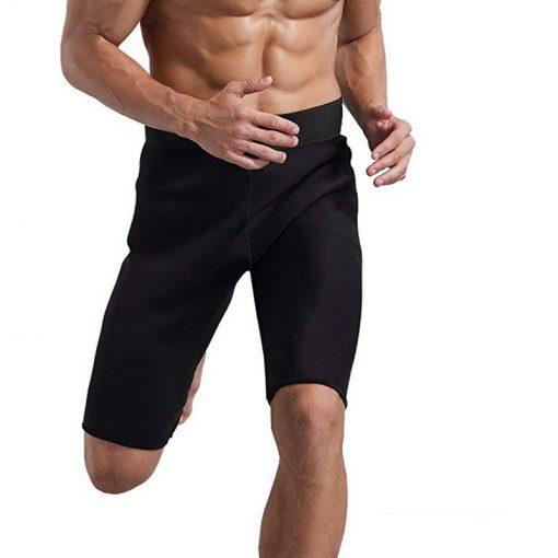 Homme en train de courir avec un short de sudation
