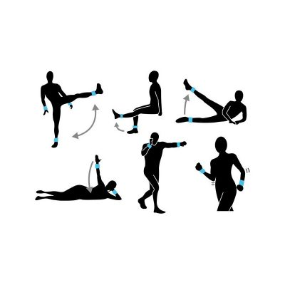 poids cheville poignet neoprene 2 x 1kg exemples exercices