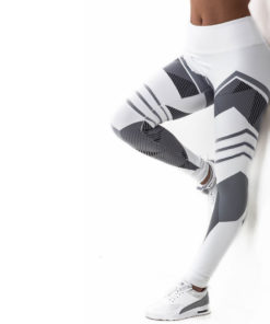 Legging de sport motifs blanc femme