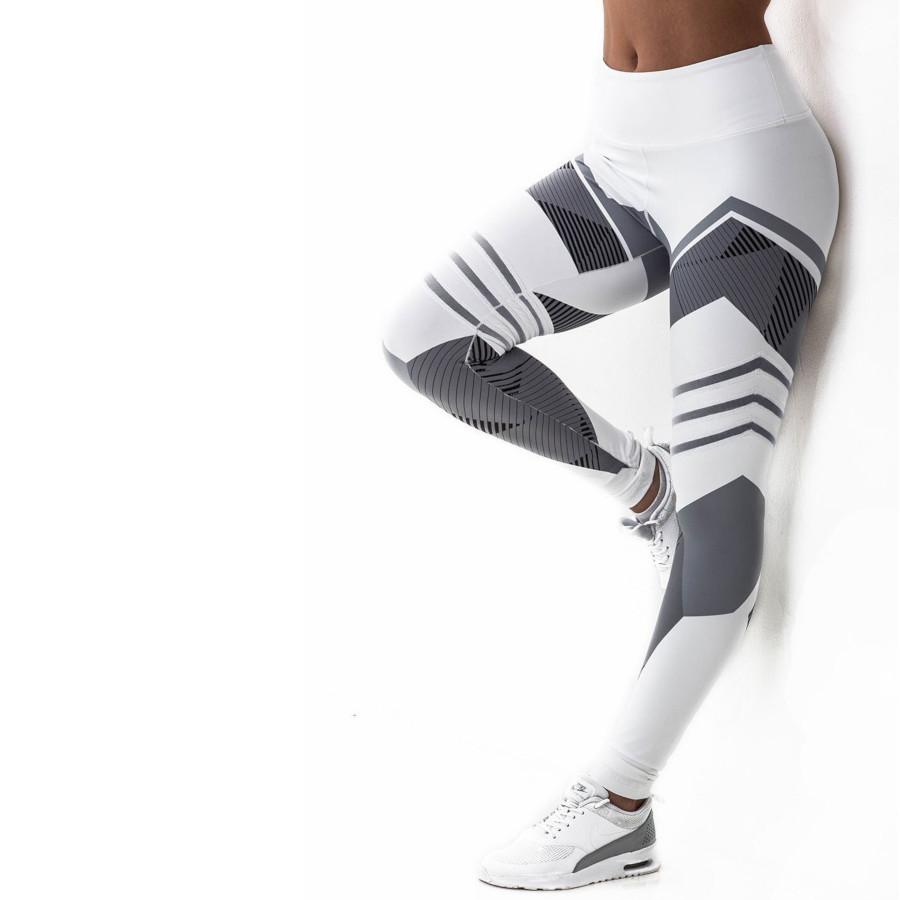 legging sport noir et blanc