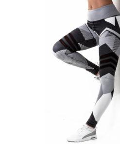 Legging de sport motifs gris femme