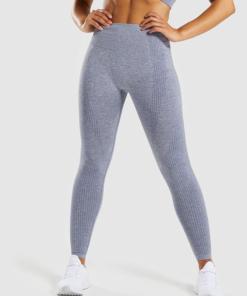 Legging sport fitness instagram confort taille haute femme Woolfit gris face