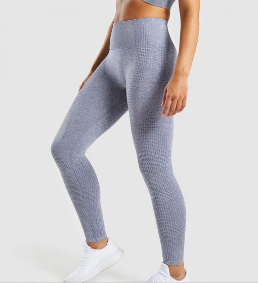 Legging sport fitness instagram confort taille haute femme Woolfit gris profil