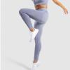Legging sport fitness instagram confort taille haute femme Woolfit gris saut