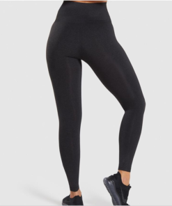 Legging sport fitness instagram confort taille haute femme Woolfit noir dos
