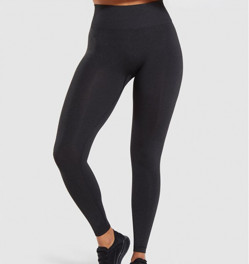 Legging sport fitness instagram confort taille haute femme Woolfit noir face