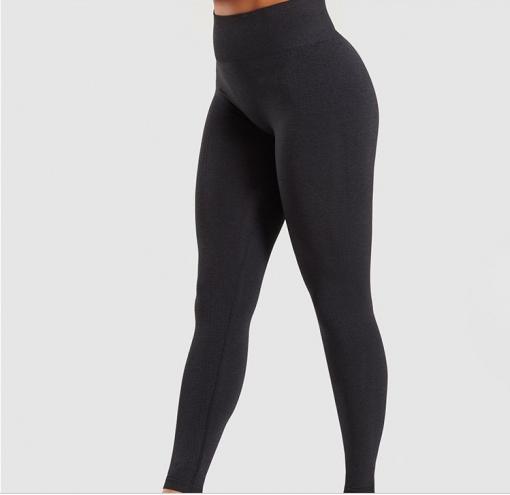 Legging sport fitness instagram confort taille haute femme Woolfit noir profil