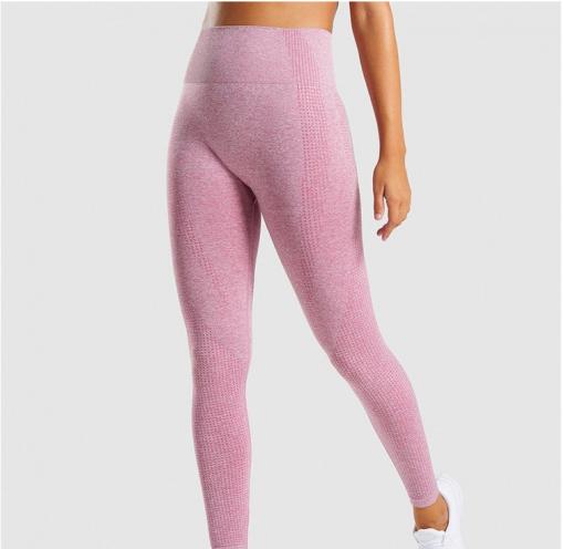Legging sport fitness instagram confort taille haute femme Woolfit rose face