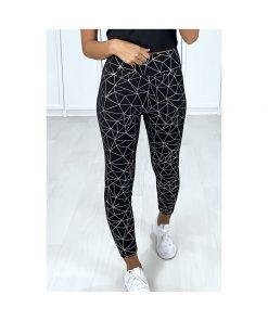 legging de sport avec motifs geometriques pour femme