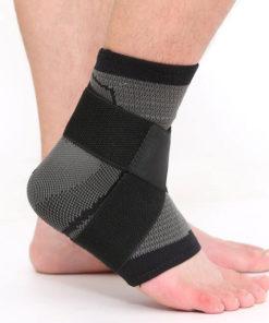 bandage strapping cheville noir profil contre entorse
