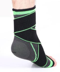 bandage strapping cheville vert confort talon