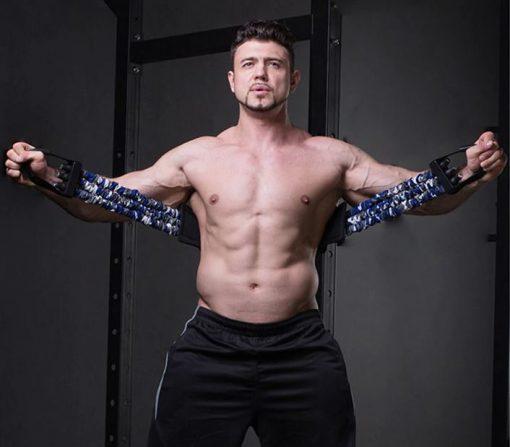 bande elastique de resistance pour exercice ecartes pectoraux