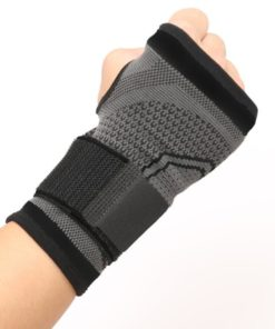 strapping noir poignet musculation poing ferme