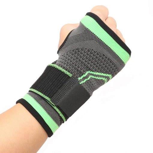 strapping vert poignet musculation poing ferme