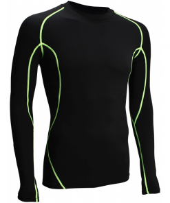 T-shirt a manches longues de musculation compression
