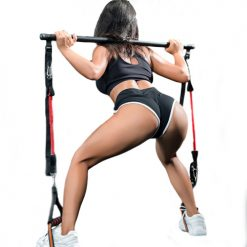barre elastiques resistance fitness musculation exercice squat