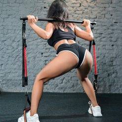 barre elastique fitness musculation exercice squats