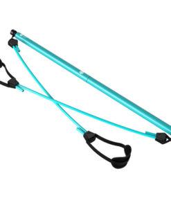 barre squat elastiques fitness bleu