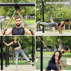 elastiques resistance musculation fitness fixation barres entrainement exterieur
