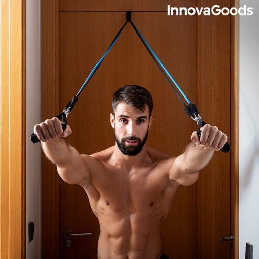 elastiques resistance musculation fitness fixation cadre de porte facile exercice pectoraux