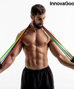 elastiques resistance musculation fitness fixation cadre de porte entrainement complet homme