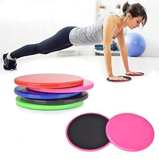 paire de disques glissant pour exercices fitness haut du corps