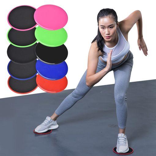paire de disques glissant pour exercices fitness bas du corps